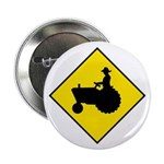 "Tractor Crossing Sign - 2.25"" Button (100 pack)"
