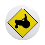 Tractor Crossing Sign - Keepsake (Round)