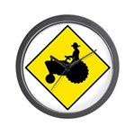 Tractor Crossing Sign - Wall Clock