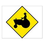 Tractor Crossing Sign - Small Poster