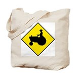 Tractor Crossing Sign - Tote Bag