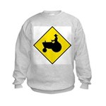 Tractor Crossing Sign - Kids Sweatshirt