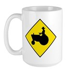 Tractor Crossing Sign - Large Mug