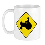 Tractor Crossing Sign - Mug