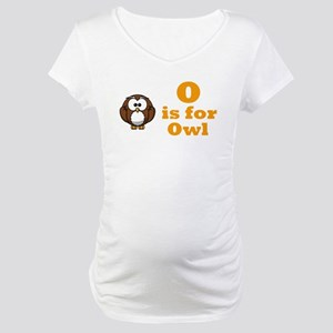 """O is for Owl"" Maternity T-Shirt"