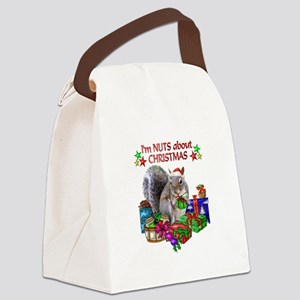christmas squirrel with Canvas Lunch Bag
