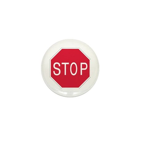 Stop Sign - Mini Button (10 pack)