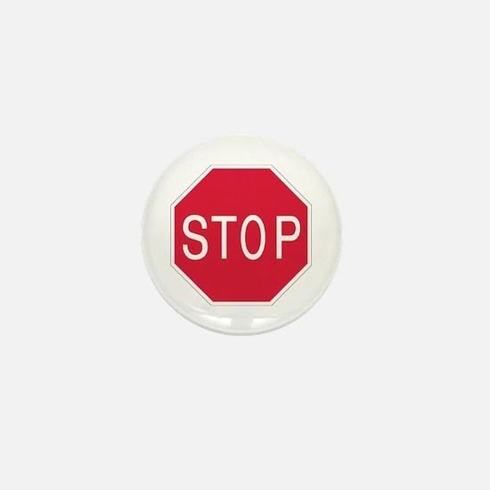 Stop Sign - Mini Button