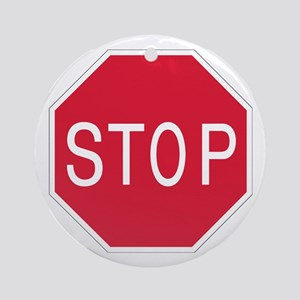 Stop Sign - Keepsake (Round)