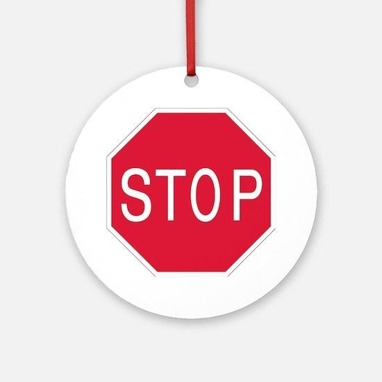 Stop Sign - Keepsake (Round)