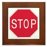 Stop Sign - Framed Tile