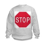 Stop Sign - Kids Sweatshirt