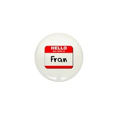 Hello my name is Fran Mini Button (10 pack)