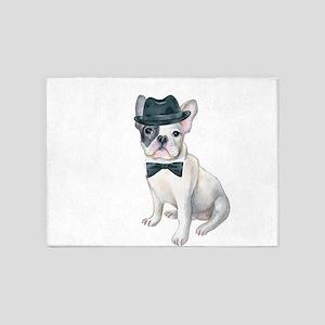 Frenchie French Bulldog Gangster Ha 5'x7'Area Rug