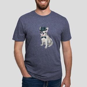 Frenchie French Bulldog Gangster Hat black T-Shirt