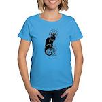 Basement Cat wants ur soul -Women's Dark T-Shirt