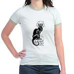 Basement Cat wants ur soul -Jr. Ringer T-Shirt