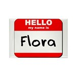 Hello my name is Flora Rectangle Magnet