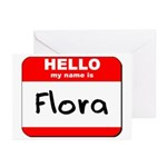 Hello my name is Flora Greeting Cards (Pk of 10)