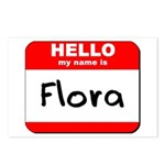 Hello my name is Flora Postcards (Package of 8)