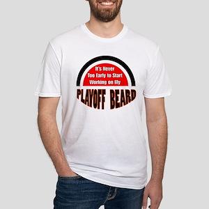 playoff beard Fitted T-Shirt