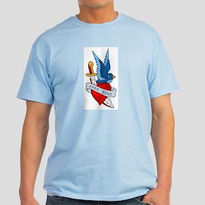 Free Bird Heart Knife Tattoo Light T-Shirt