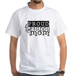 Proud Scrappy Mom White T-Shirt