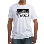 Proud Scrappy Mom Fitted T-Shirt