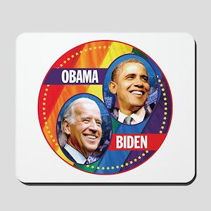 Obama-Biden Gay Flag Back Mousepad