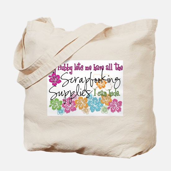 Scrapbooking Supplies I can H Tote Bag