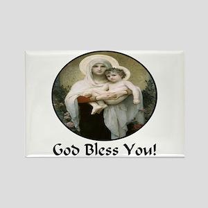 Mary & Child Jesus Rectangle Magnet