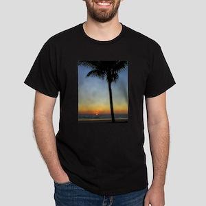 Palm Tree Sunset Dark T-Shirt