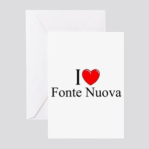 """I Love (Heart) Fonte Nuova"" Greeting Cards (Pk of"