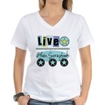 Live Women's V-Neck T-Shirt