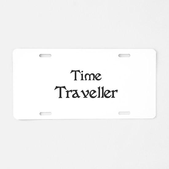 Time Traveller Aluminum License Plate