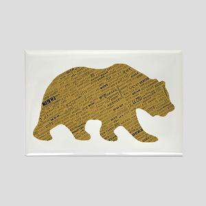 International Bear Rectangle Magnet
