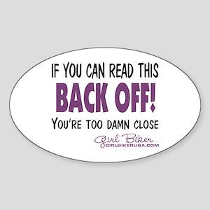 Back Off! Oval Sticker