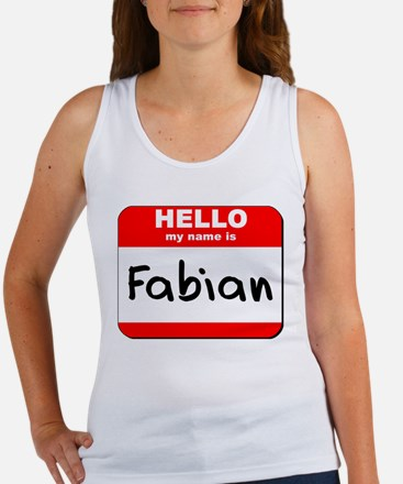 Hello my name is Fabian Women's Tank Top