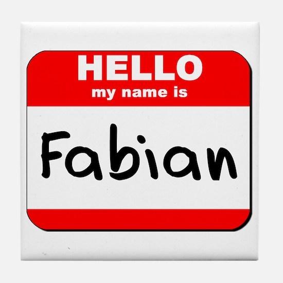 Hello my name is Fabian Tile Coaster
