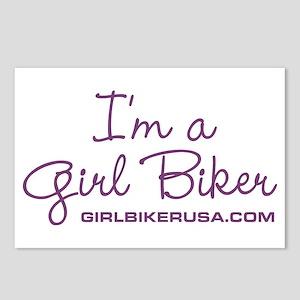 Girl Biker Postcards (Package of 8)
