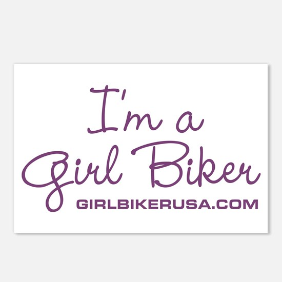 Girl Biker Postcards (Package of 8)