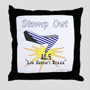 ALS AWARENESS Throw Pillow