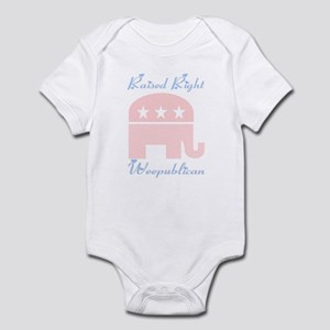 Weepublican Pink with Blue Infant Bodysuit