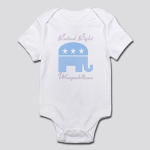 Weepublican Blue with Pink Infant Bodysuit