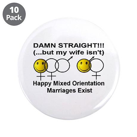"""Damn Straight"" 3.5"" Button (10 pac"