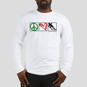 PEACE LOVE CARVE Long Sleeve T-Shirt