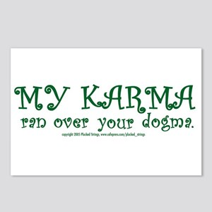 My Karma Ran Over Your Dogma Postcards (Package of
