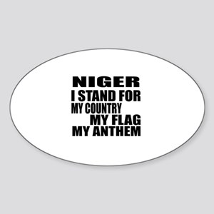 I Stand For Niger Sticker (Oval)