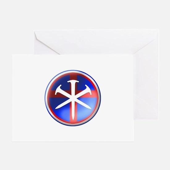 'Patroit Cross' Greeting Card
