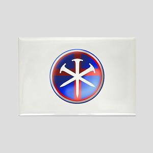 'Patroit Cross' Rectangle Magnet